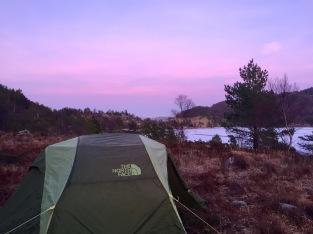 Telt og kveldsfarger