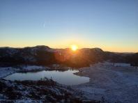 Soloppgang i Januar fra Dalsnuten
