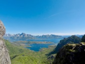 Utsikt fra Fløya.