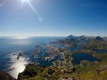 Svolvær fra Fløya.