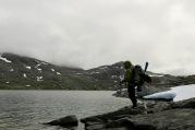 Fiske ved Breiavatna. Foto: Topp Hestmark.