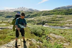 Drømmeforhold i fjellet. Foto: Topp Hestmark.