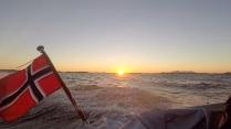 Kveldssol på havet.