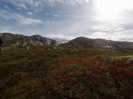 Fine farger i høst-fjellet.