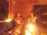 Slitne vandrere på hytta i Viglesdalen.