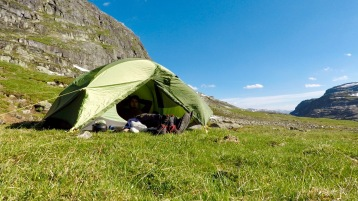 Sekk ned, telt opp -> slapp av!
