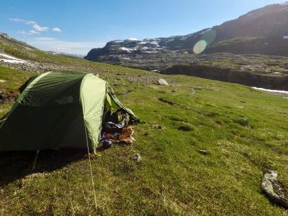 Teltplass Ståvassdalen.