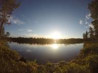 Solnedgang i Røavassdraget